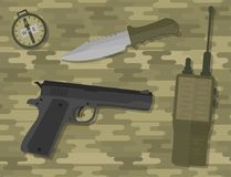 Ícones do vetor das armas Fotografia de Stock