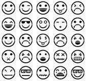 Ícones do smiley Imagem de Stock