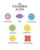 Ícones do vetor de Chakra Fotografia de Stock Royalty Free