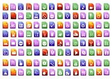 Ícones do vetor de Colorfull Foto de Stock