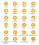 Ícones do vetor de Cryptocurrency Fotografia de Stock Royalty Free