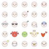 Ícones do vetor de Smilies Fotos de Stock