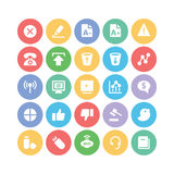 Ícones 6 do vetor de uma comunicação Foto de Stock Royalty Free