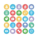 Ícones 5 do vetor de uma comunicação Fotografia de Stock Royalty Free