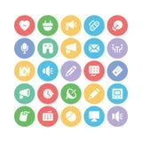 Ícones 11 do vetor de uma comunicação Imagem de Stock