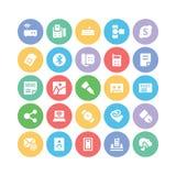 Ícones 8 do vetor de uma comunicação Imagem de Stock Royalty Free