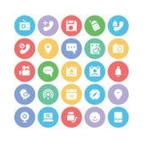Ícones 9 do vetor de uma comunicação Imagens de Stock