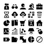 Ícones 5 do vetor de uma comunicação Imagem de Stock Royalty Free
