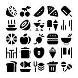 Ícones 2 do vetor do alimento Fotografia de Stock Royalty Free