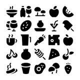 Ícones 9 do vetor do alimento imagem de stock royalty free