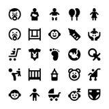 Ícones 1 do vetor do bebê e das crianças Fotos de Stock Royalty Free