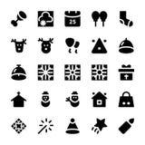Ícones 6 do vetor do Natal Fotos de Stock Royalty Free
