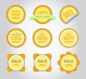 Ícones do vetor do ouro Imagem de Stock Royalty Free
