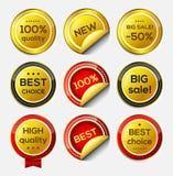 Ícones do vetor do ouro Fotografia de Stock Royalty Free