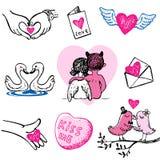 Ícones do vetor do Valentim Fotografia de Stock Royalty Free