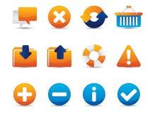 Ícones do vetor do Web Imagens de Stock
