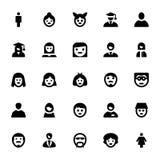 Ícones 1 do vetor dos Avatars dos povos Foto de Stock Royalty Free