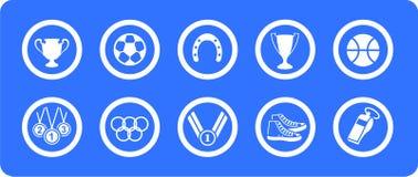 Ícones do vetor dos esportes ajustados ilustração do vetor