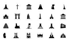 Ícones 3 do vetor dos monumentos Imagens de Stock Royalty Free