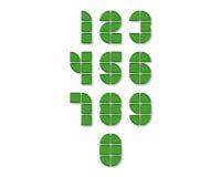 Ícones do vetor dos números com sombra Fotografia de Stock