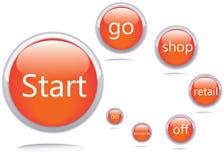Ícones do vetor. Enfie GO Shop Fotos de Stock