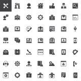 Ícones do vetor do suporte técnico ajustados ilustração royalty free