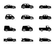 Ícones do vetor Vetor dos carros Foto de Stock Royalty Free