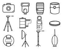 Ícones do vintage da fotografia Imagem de Stock
