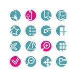 Ícones do visor do círculo Imagens de Stock Royalty Free