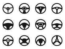 Ícones do volante ajustados ilustração stock