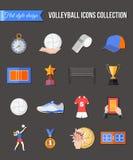 Ícones do voleibol ajustados Foto de Stock Royalty Free