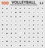 Ícones do voleibol ajustados Fotos de Stock