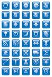 Ícones do Web Fotos de Stock Royalty Free