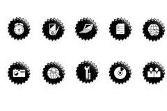 Ícones do Web. Ilustração do Vetor