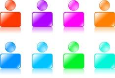 Ícones do Web. Imagem de Stock Royalty Free