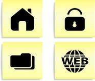 Ícones do Web. Foto de Stock