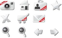 Ícones do Web Imagem de Stock Royalty Free