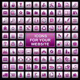 Ícones do Web Fotos de Stock