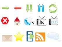 Ícones do Web Fotografia de Stock