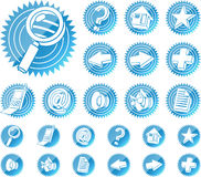 Ícones do Web ajustados ilustração stock