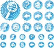 Ícones do Web ajustados Foto de Stock Royalty Free