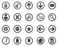 Ícones do Web ajustados para seu Web site Fotografia de Stock Royalty Free