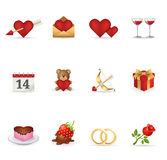 Ícones do Web - amor Imagem de Stock