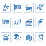Ícones do Web: Bens imobiliários 1 Imagem de Stock Royalty Free