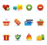 Ícones do Web - comércio electrónico Fotografia de Stock Royalty Free