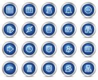 Ícones do Web da base de dados Fotografia de Stock Royalty Free