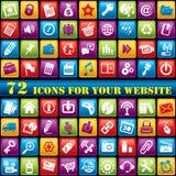 Ícones do Web da cor Fotografia de Stock Royalty Free