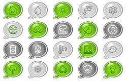 Ícones do Web da ecologia ilustração royalty free