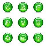 Ícones do Web da ecologia ilustração stock