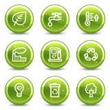 Ícones do Web da ecologia Fotografia de Stock